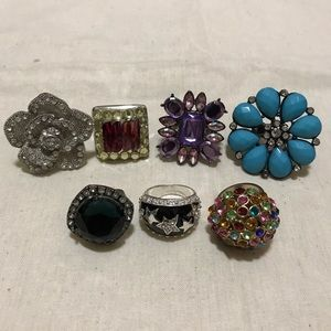 Jewelry - Lot of 7 Costume Jewelry Rings